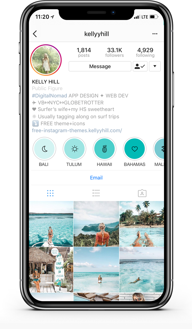 Kelly Hill Free Instagram Highlights Template